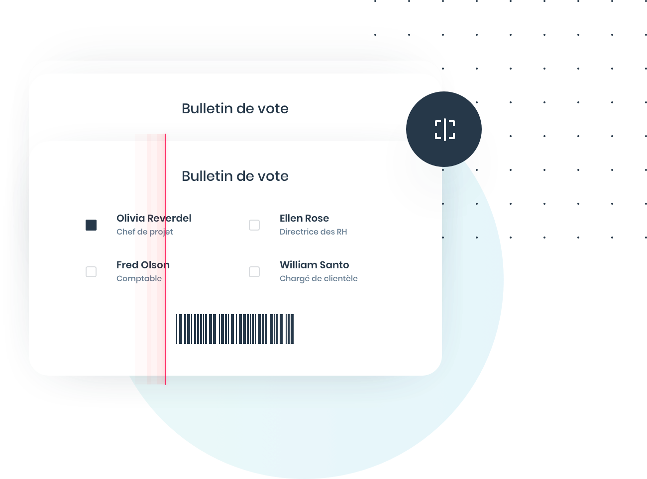 Scan des codes-barres et dépouillement du vote papier
