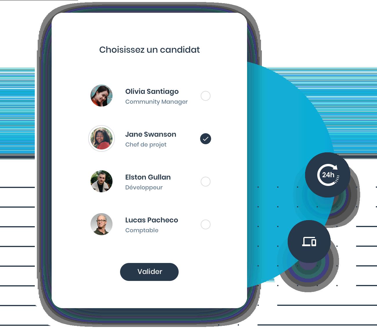 Simplicité de l'interface de vote en ligne